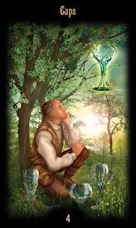 четверка кубков таро божественного наследия