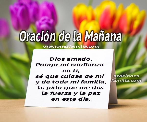 Oración de la mañana, buenos días dando gracias a Dios,  frases cristianas con oraciones para iniciar el día  por Mery Bracho