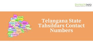 Telangana State Tahsildars Contact Numbers