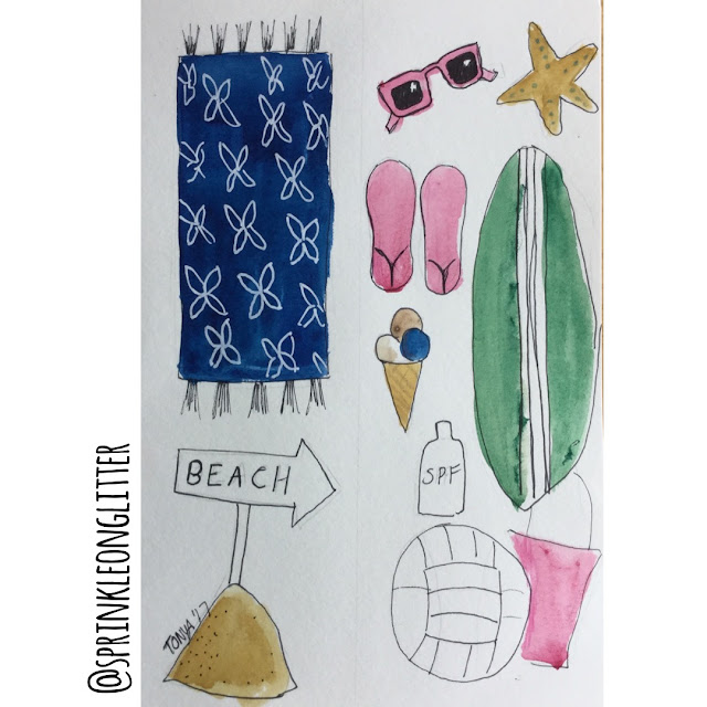 Sprinkle On Glitter Blog//what's in your beach bag?