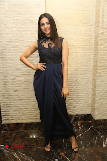 Actress Rakul Preet Singh Stills in Beautiful Blue Long Dress at Dhruva Salute to Audience Event  0118.JPG