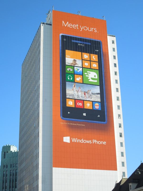 Giant Meet yours Windows Phone billboard