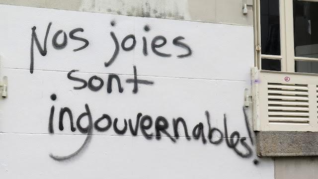 Nos joies sont ingouvernables - Loi Travail slogan graff