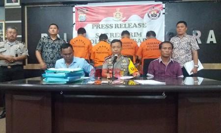 Konfrensi pers OTT di Batubara.