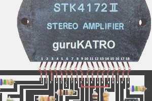 Skema dan Layout PCB Amplifier STK4172