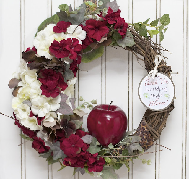 Teacher Appreciation Wreath by Love Laughter and Decor