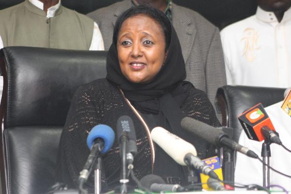 Education Cabinet Secretary Amina Mohamed when she was foreign affairs CS. PHOTO | Courtesy NMG