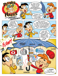 Pee Wee Harris Looks at Emergency Preparedness comic