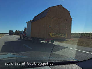 Umzug mal anders: Haustransport auf dem Highway, Foto von unabh. Stampin' Up! Demonstratorin in Coburg