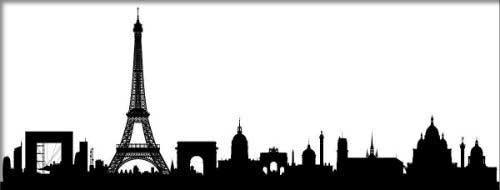 Sombra da cidade de Paris