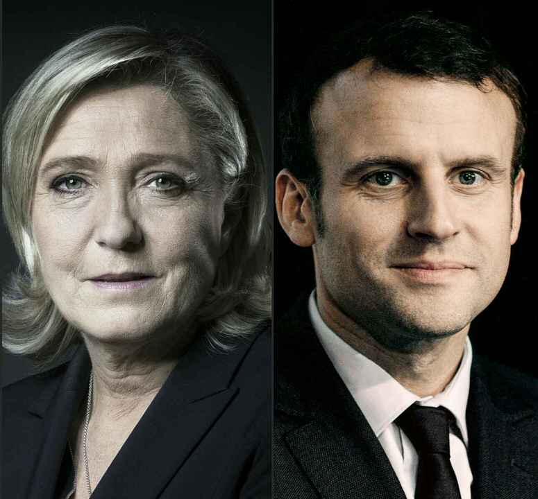 Οι περισσότερες τρέχουσες δημοσκοπήσεις συμφωνούν ότι η Λε Πεν και ο Μακρόν θα προχωρήσουν στο δεύτερο γύρο