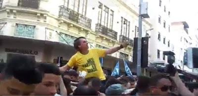 Jair Bolsonaro - Frame do vídeo no Jornal da Globo