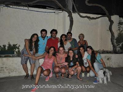 Enero 2014: en casa de Gime Rodríguez, familia y amigos en San Juan, Argentina.