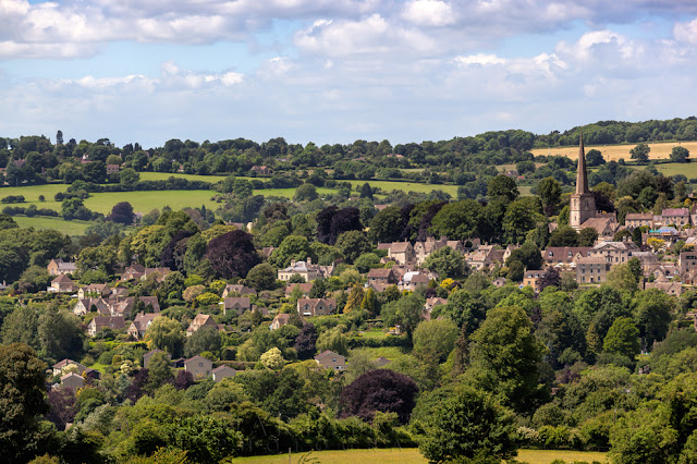 Landscape surrounding the Cotswold town of Painswick