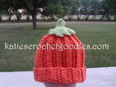 free pumpkin crochet hat pattern