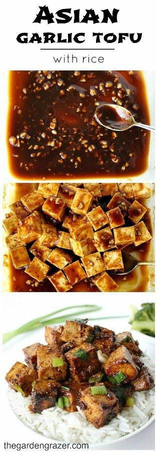 Asian Garlic Tofu with Rice