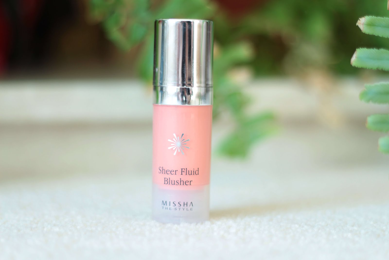 review missha sheer fluid blusher vivid coral uk beauty blogger