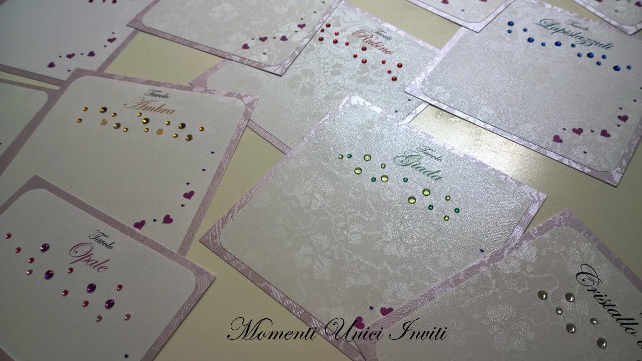 2 Cards tableau e segnatavolo Pietre PrezioseCards Tableau Segnatavolo Tema Pietre Preziose