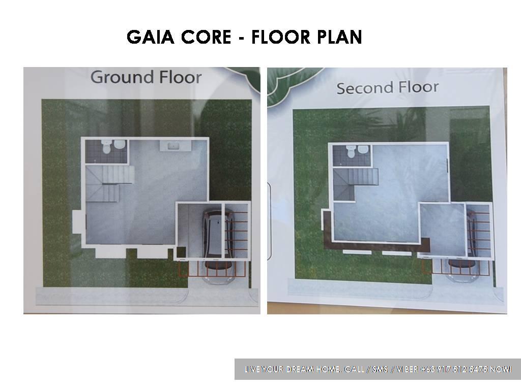 Floor Plan of Gaia Core - Idesia Dasmarinas | Affordable Pagibig House for Sale Dasmarinas Cavite
