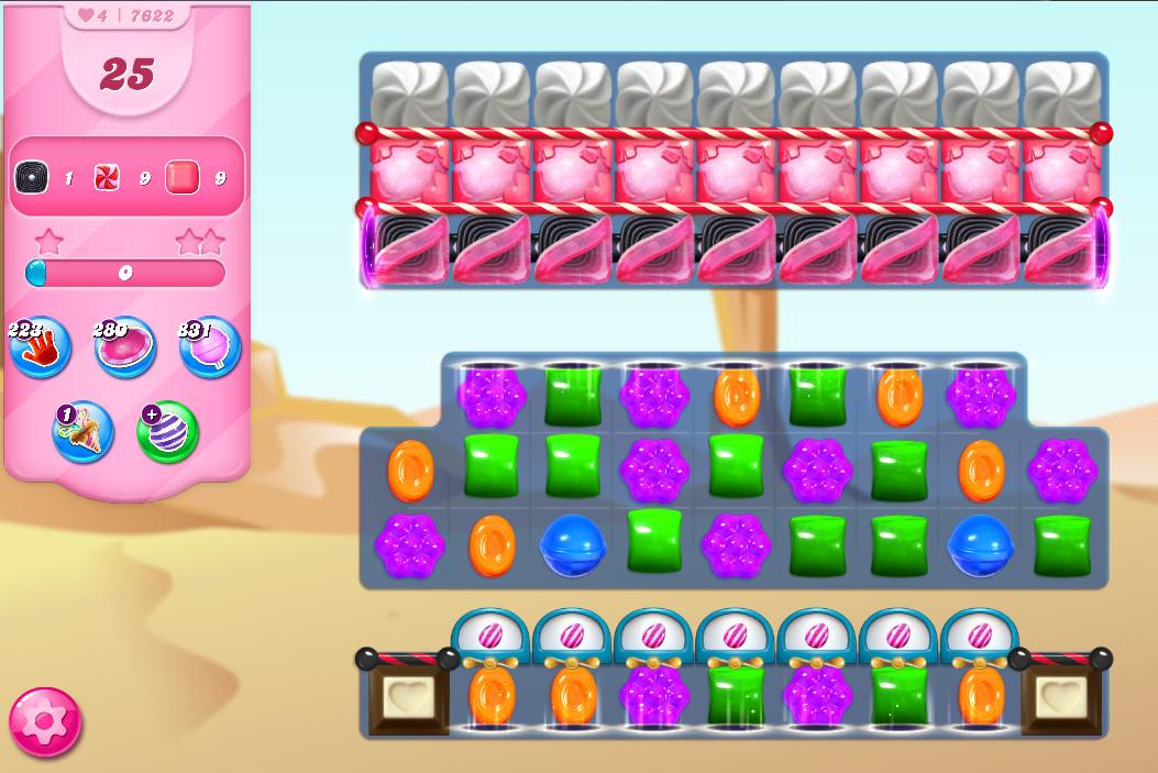 Candy Crush Saga level 7622