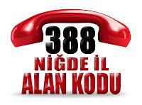 0388 Niğde telefon alan kodu