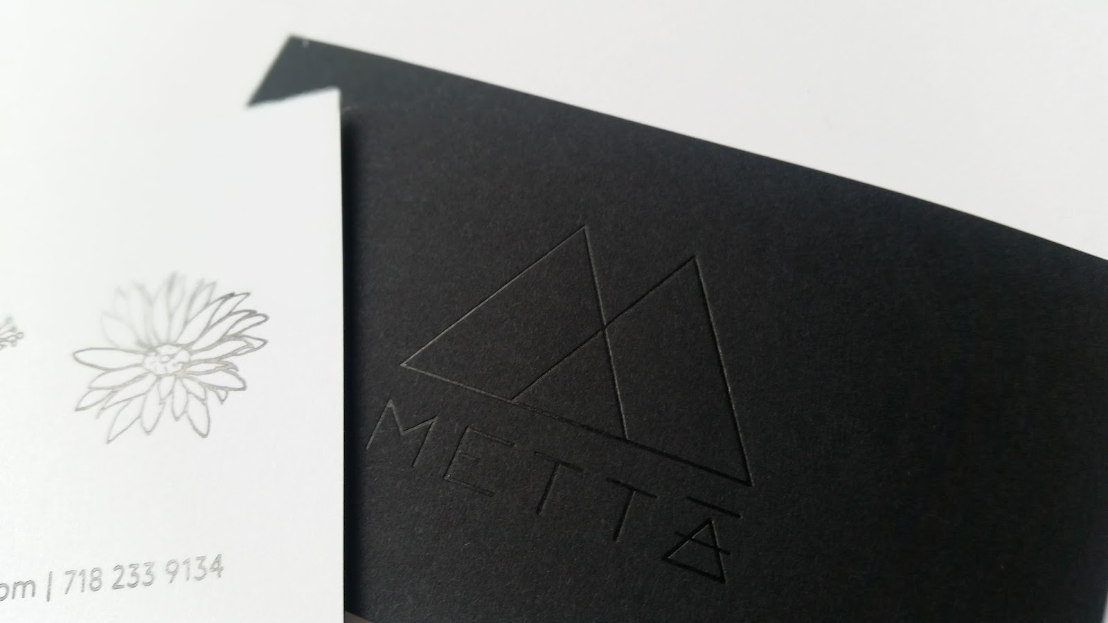 Black Letterpress Business Cards Image collections - Card Design ...