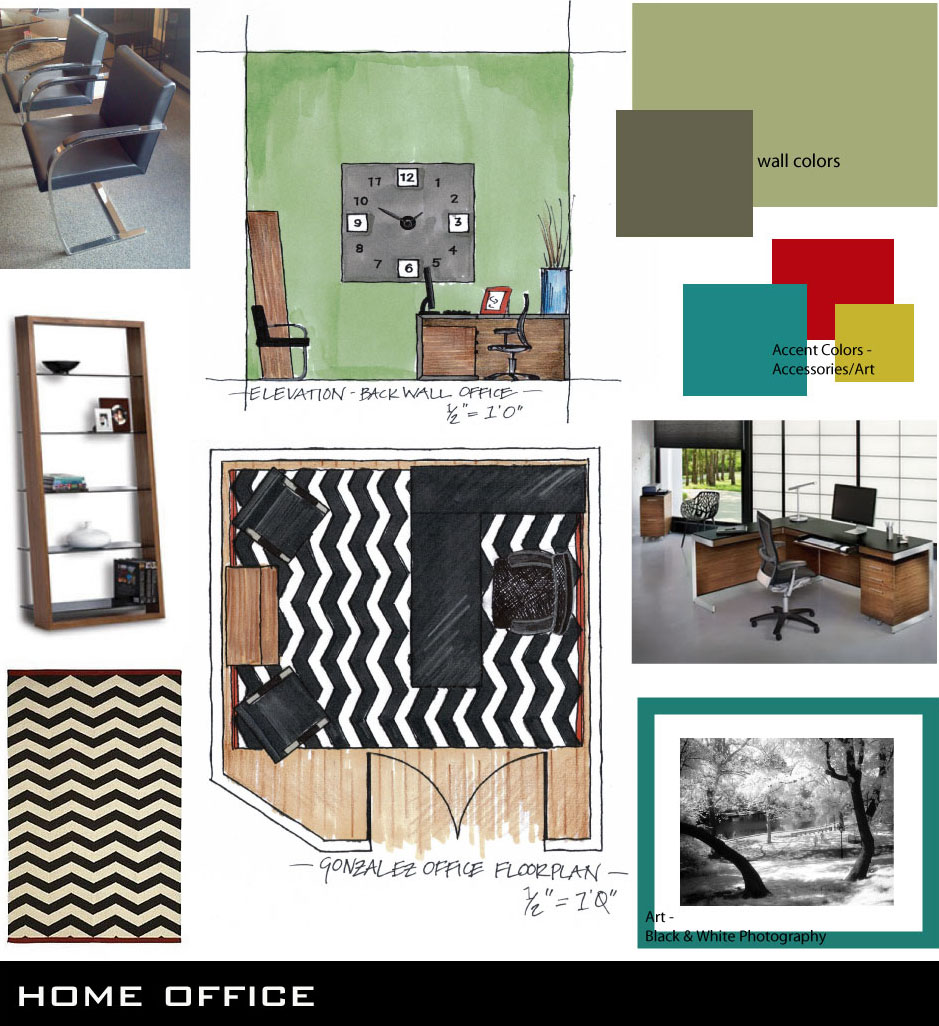 Home Office Concept Board
