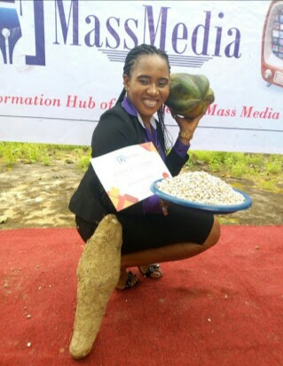 Lady Gets Yam, Beans, Pawpaw As Best Creative Advert Student