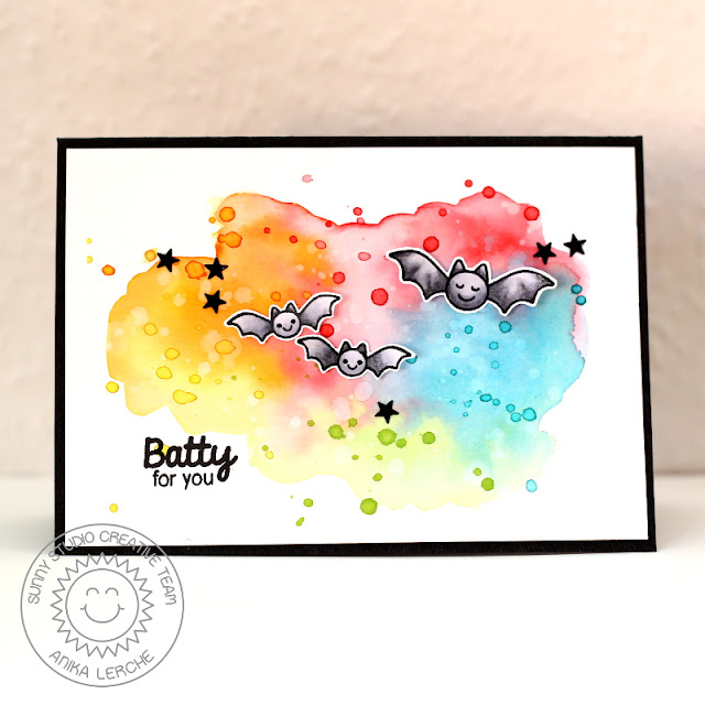 Sunny Studio Stamps: Halloween Cuties Batty For You Card by Anni Lerche.