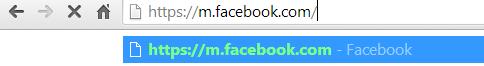 Vào facebook với giao diện di động trên máy vi tính
