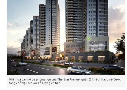 Mua căn hộ The Sun Avenue 3 phòng ngủ tặng chỗ đỗ xe hơi