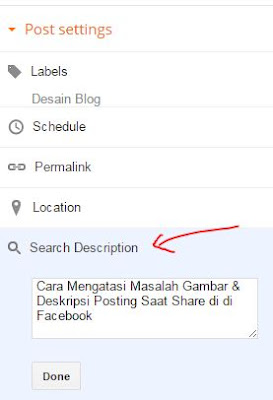 "form ""Search Description"" atau Deskripsi Pencarian"