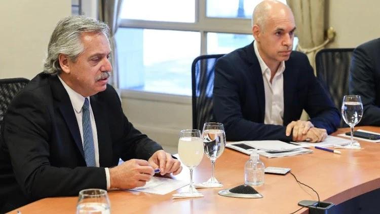 Fernández se reunió con Rodríguez Larreta para definir la nueva fase del aislamiento
