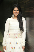 Megha Akash in beautiful White Anarkali Dress at Pre release function of Movie LIE ~ Celebrities Galleries 053.JPG