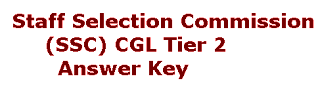 SSC CGL Tier 2 Answer Key