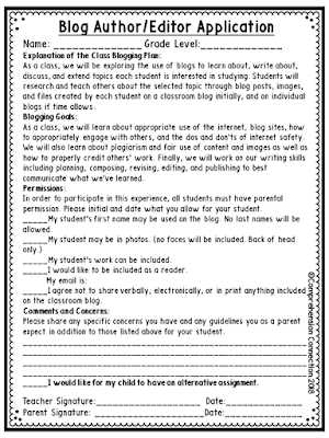 Free Resource: Blogging in the classroom can be rewarding as long as students use the platform safely. In this post, safety guidelines are discussed as well as how to secure your sites and monitor student work. #internetsafety #bloggingintheclassroom #comprehensionconnection #internetcitizenship #bloggingbenefits