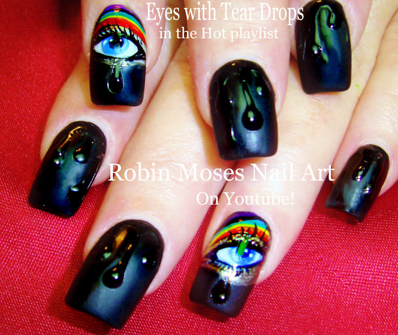 Nail Art by Robin Moses: Easy Matte Rainbow Nails \