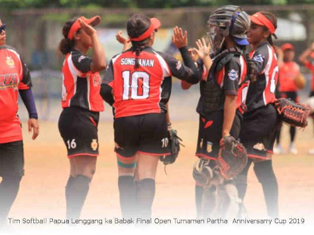 Tim Softball Papua Lenggang ke Babak Final Open Turnamen Partha Anniversarry Cup 2019