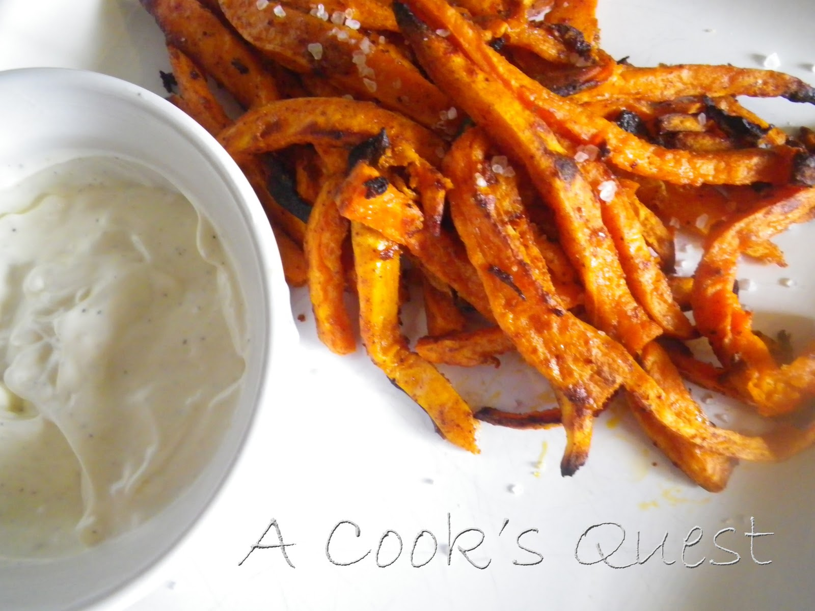 A Cook's Quest: Chipotle Sweet Potato Fries with Garlic ...
