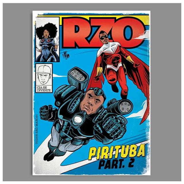 Rap em quadrinho - Helião é retratado como Falcão e Sandrão como Máquina de Combate (Vingadores, Marvel)