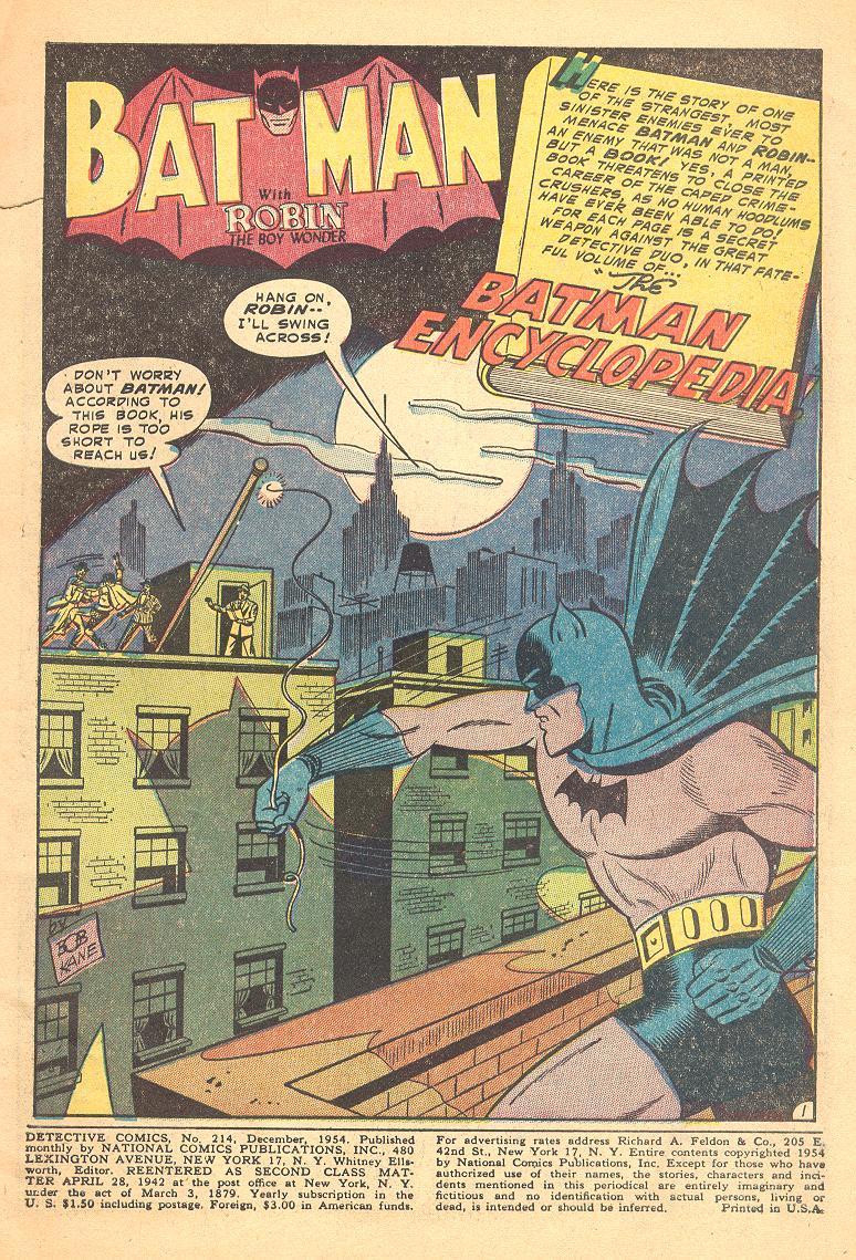 Read online Detective Comics (1937) comic -  Issue #214 - 3