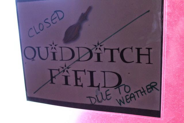 Quidditch Field Closed Due to Weather via www.happybirthdayauthor.com
