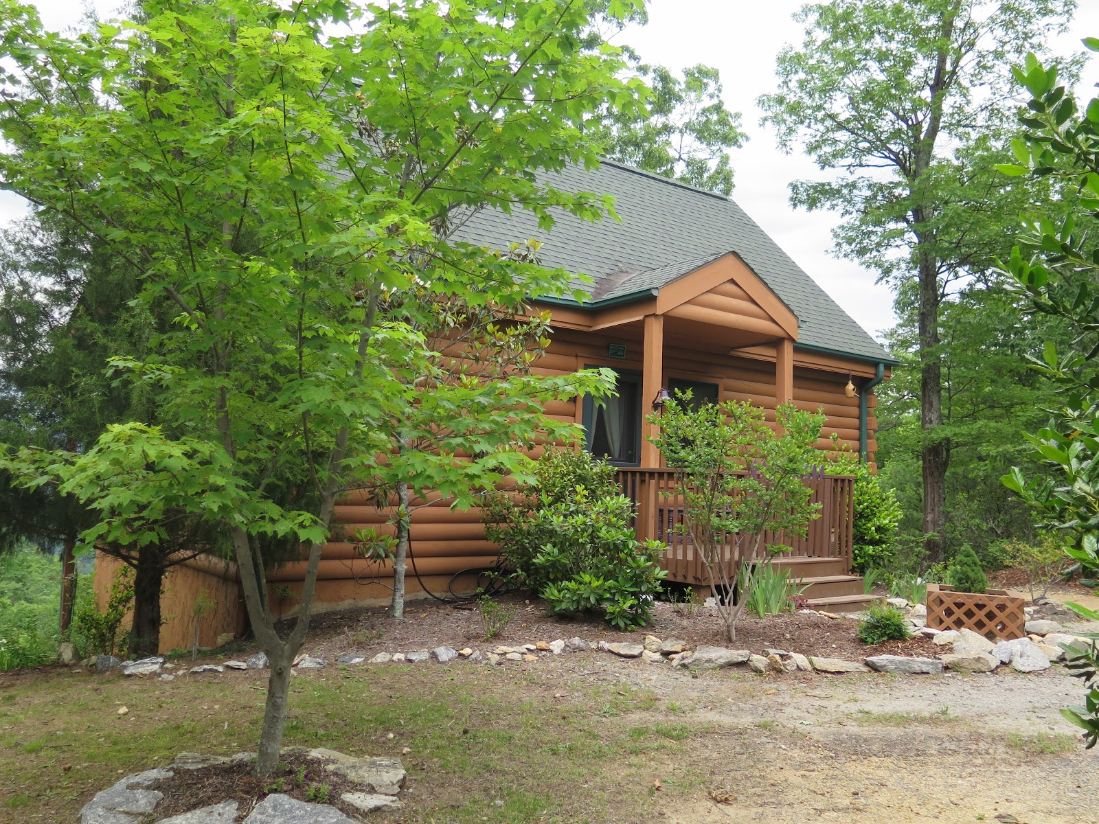 Nc mountains log cabin vacation rental ridgecrest view for Vacation log homes