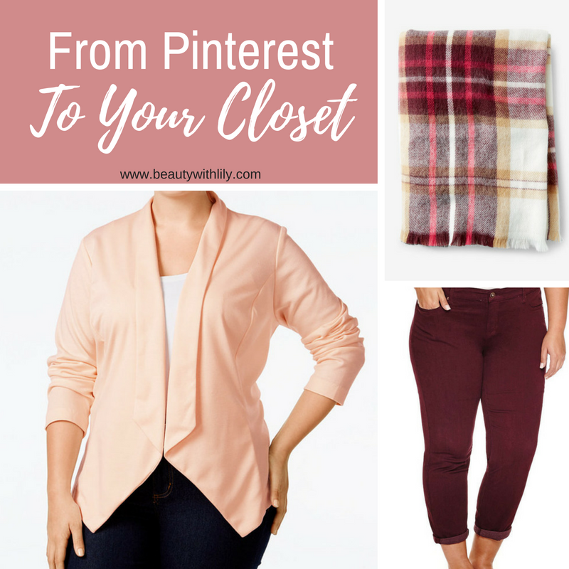 From Pinterest To YOUR Closet | Burgundy & Blush Fall Outfit