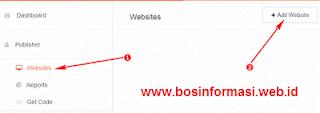menambahkan situs di poptm