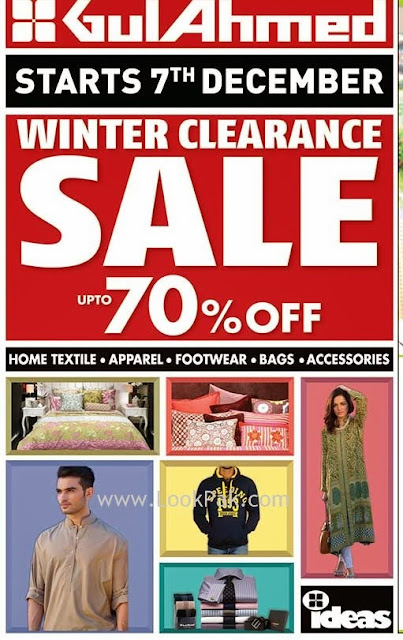 Gul Ahmed winter clearance sale up to 70% 2013
