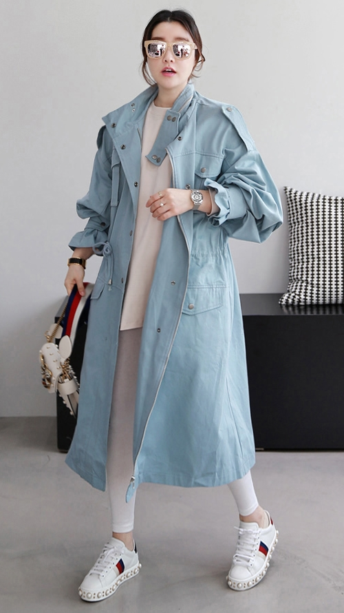 High Neck Oversized Coat