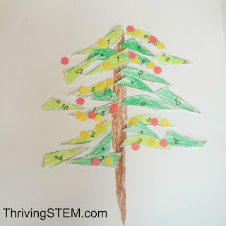 Your kindergartners will love putting together their own addition Christmas Tree.  Includes free template.