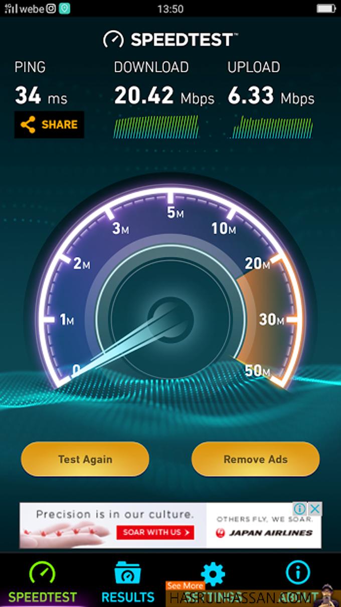 Speed Webe 4G LTE di Kawasan Nibong Tebal, Parit Buntar, Bandar Baharu, dan Ipoh