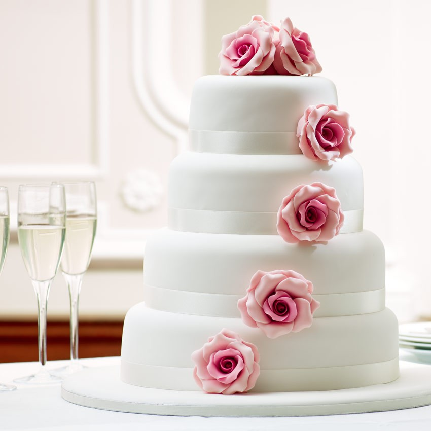 wedding cake simple elegant